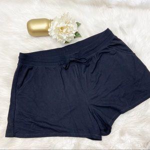 Ambrielle Super Soft Solid Black Sleep Shorts